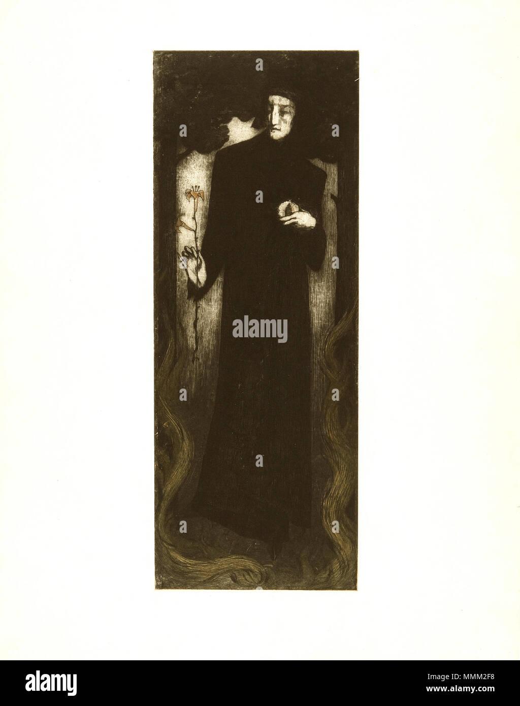 Alfredo Müller, Dante au lys, Ambroise Vollard éditeur 1898 - Stock Image