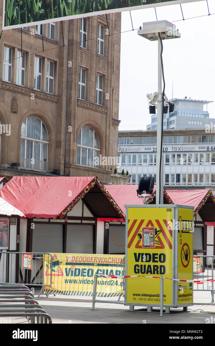 Video Guard, mobile camera surveillance system, for construction sites, storage areas, industrial plants, events, such as here a city festival in Esse - Stock Image