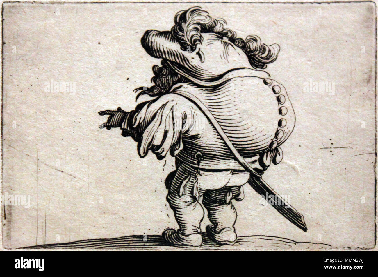 . English: Varie Figure Gobbi: Series of 21 etchings: The Hunchbacked Dwarf Deutsch: Varie Figure Gobbi; Folge von 21 Radierungen, hier: Der Zwerg mit dem Buckel  . 1616.   Jacques Callot  (1592–1635)      Description French printmaker, draughtsman and etcher  Date of birth/death between 25 March 1592 and 21 August 1592 25 March 1635  Location of birth/death Nancy Nancy  Work location Nancy, Firenze, Torino, Roma, Breda, Bruxelles, Paris  Authority control  : Q460124 VIAF:?19687783 ISNI:?0000 0001 2122 9857 ULAN:?500021688 LCCN:?n50032190 NLA:?35024962 WorldCat 1620 Callot Der Zwerg mit dem Bu - Stock Image