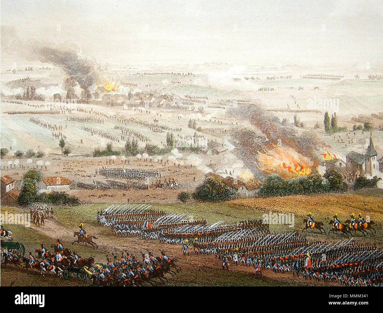 . English: Battle of Ligny by Theodore Yung  . 5 June 2013, 22:04:25. Theodore Yung Battle of Ligny - Stock Image