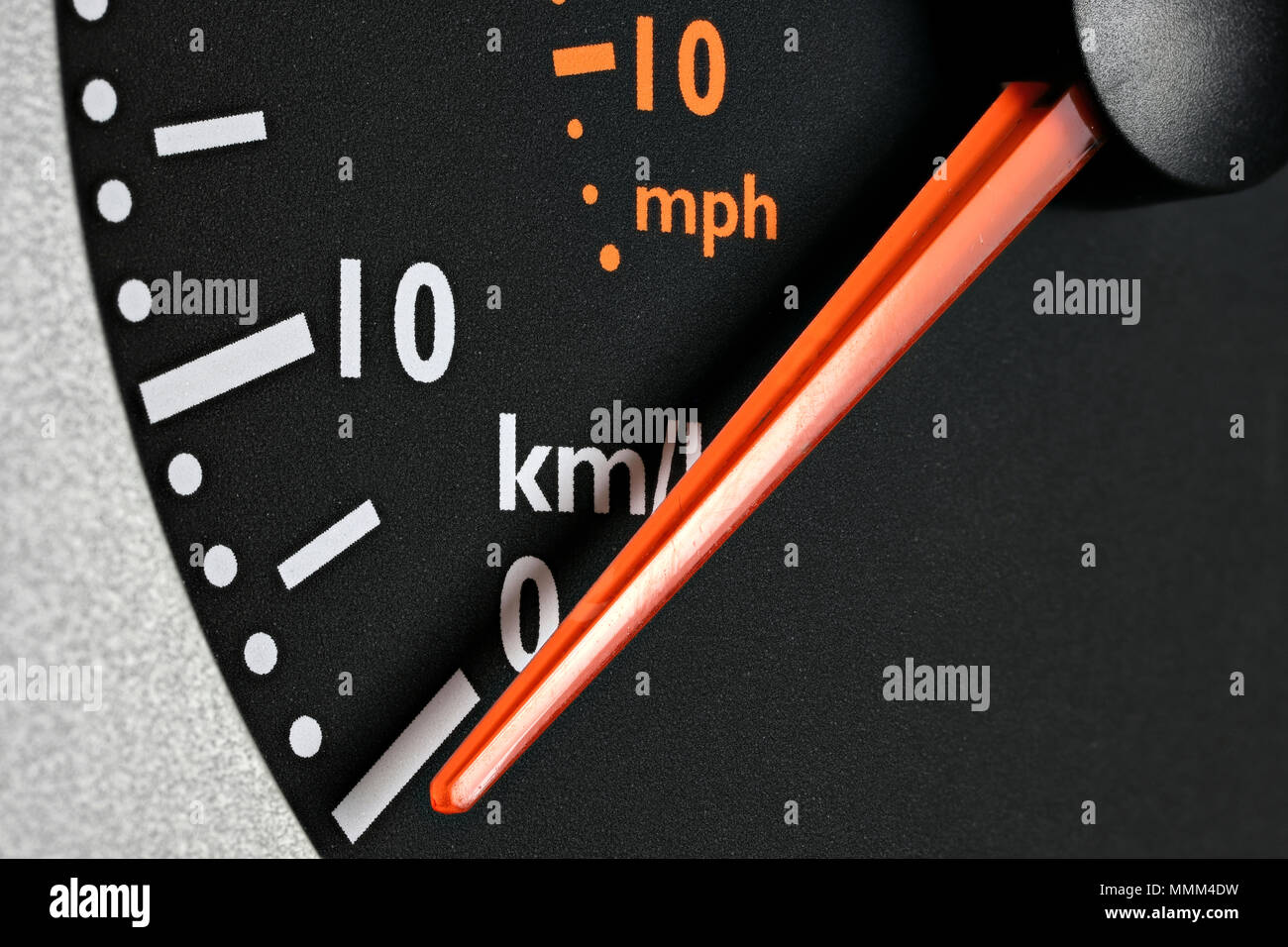 inactive speedometer of a truck - Stock Image