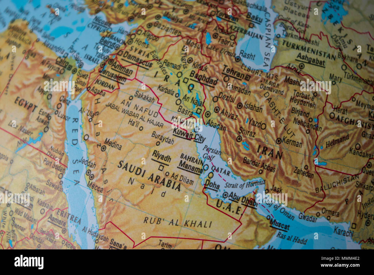 Middle East Map Stock Photos & Middle East Map Stock Images
