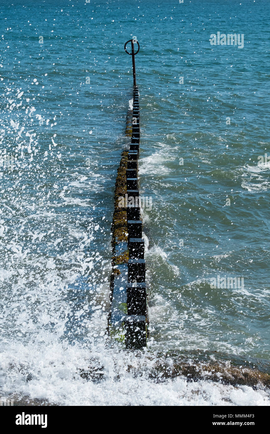 North Sea at Aberdeen - Stock Image