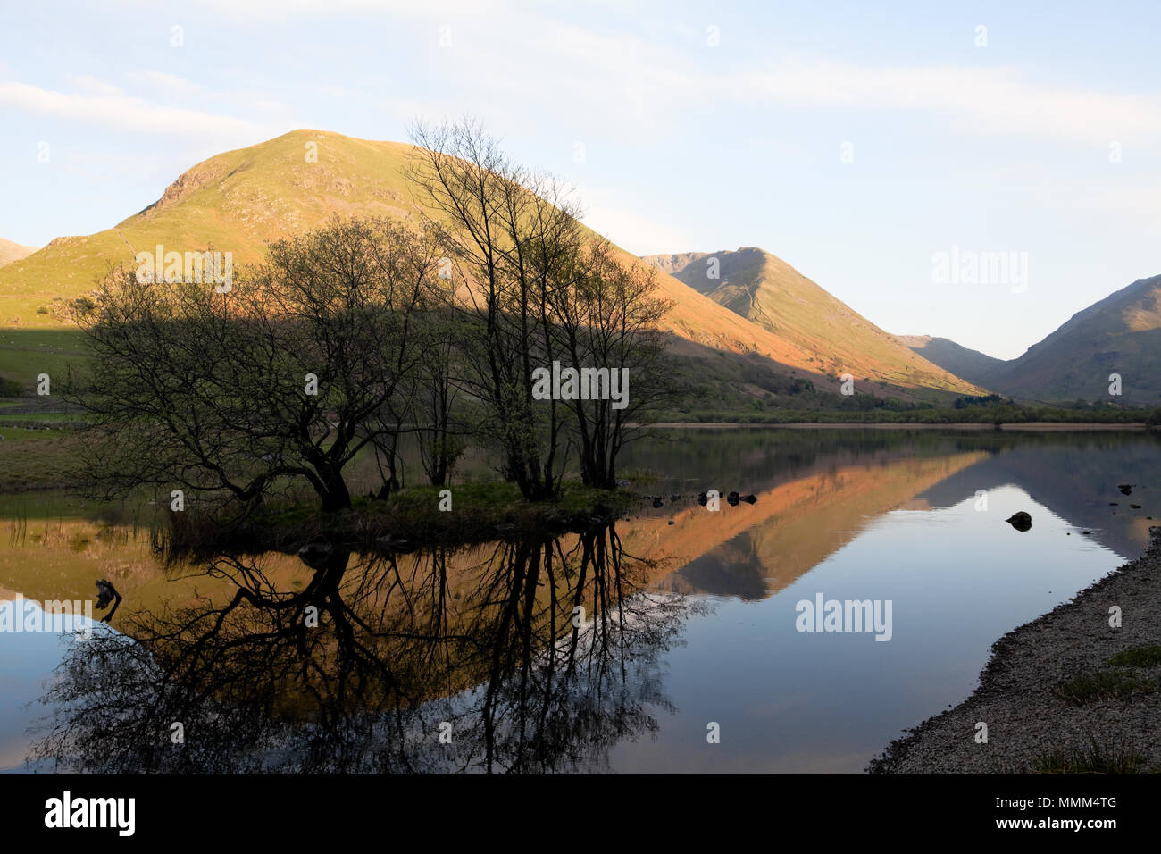Reflections in Brothers Water, Hartsop, Lake District, UK - Stock Image