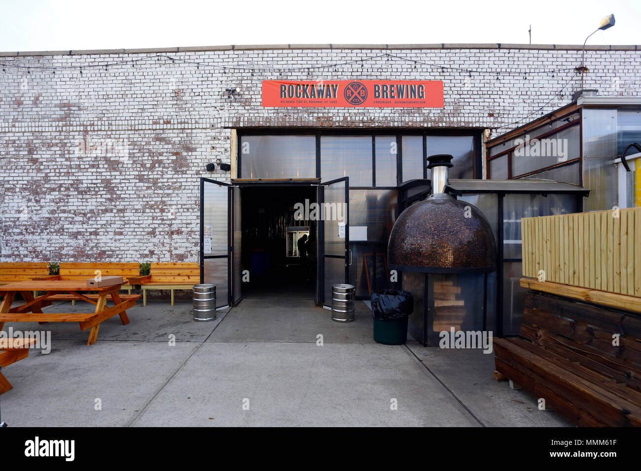 Rockaway Brewing Company Tap Room at 415 Beach 72nd, Arverne, NY - Stock Image
