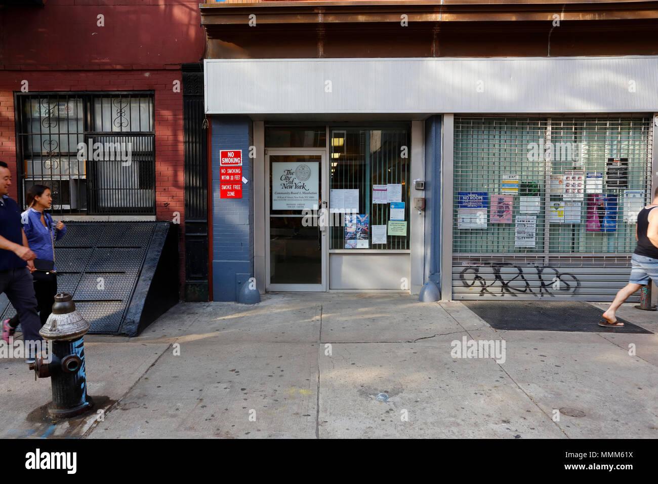 Manhattan Community Board 3, 59 E 4th St, New York, NY - Stock Image