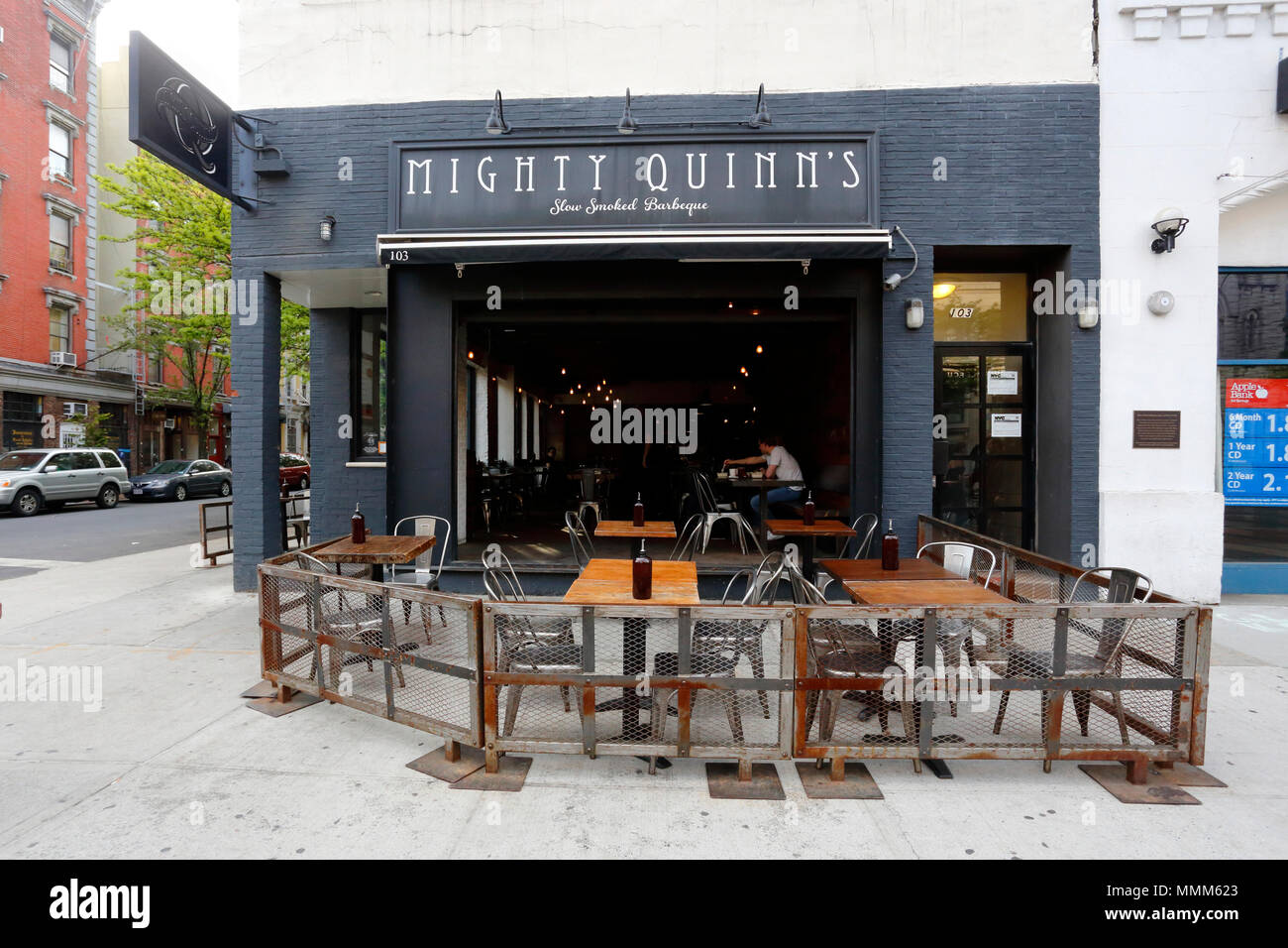 Mighty Quinn's Barbeque, 103 Second Ave, New York, NY - Stock Image