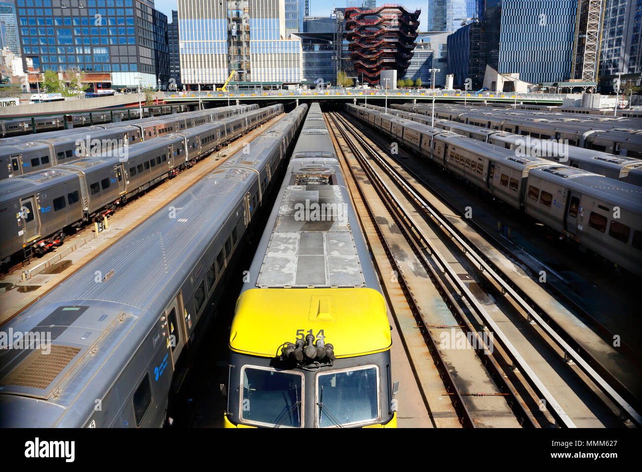 Long Island Railroad Hudson Yards - Stock Image