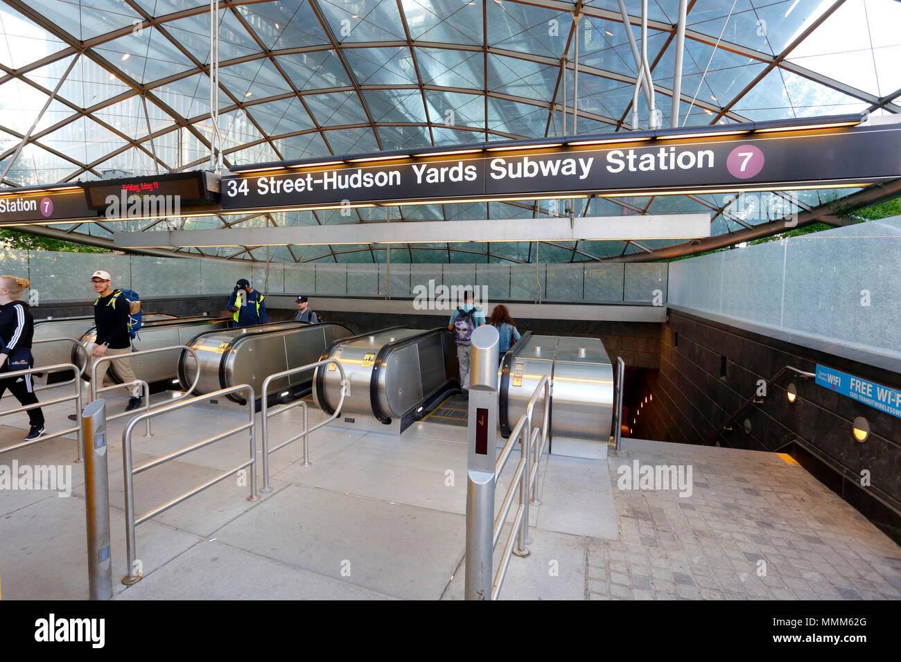 34 Street-Hudson Yards Subway station - Stock Image