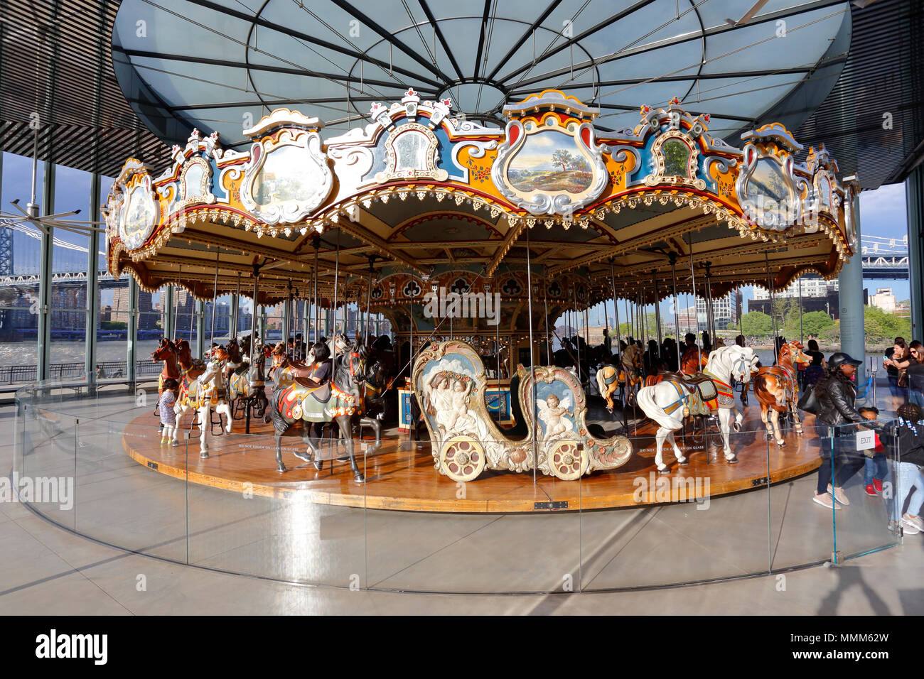 Jane's Carousel at Brooklyn Bridge Park - Stock Image