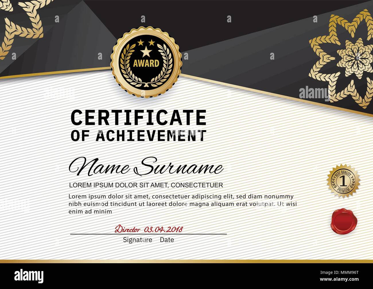 Award Template | Creative Luxury Certificate Of Appreciation Award Template With