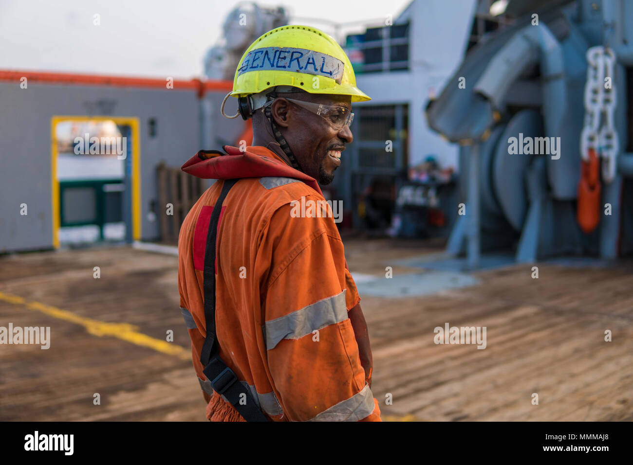 Head of AB able seamen - Bosun on deck of offshore vessel or