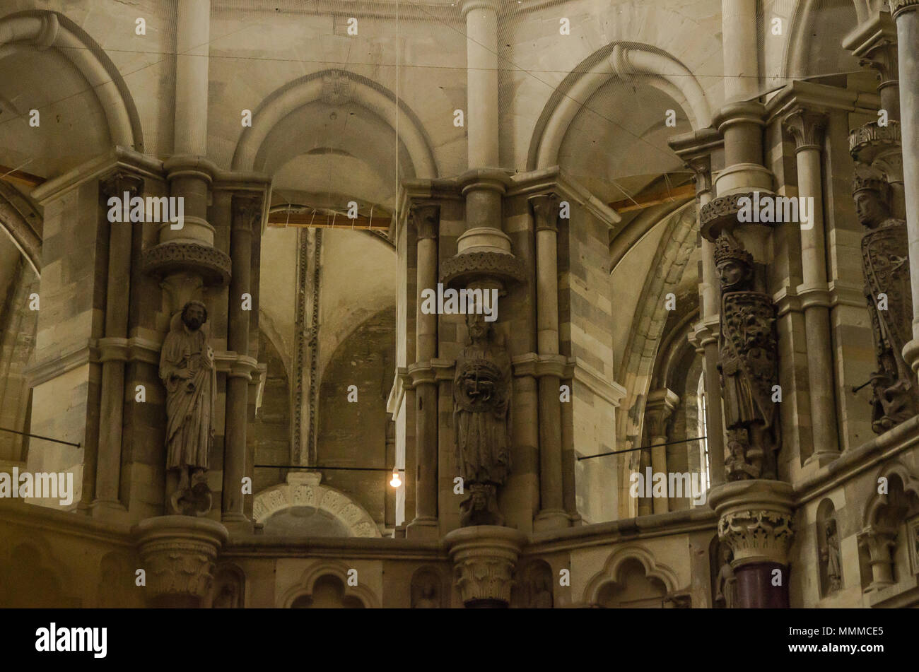 Magdeburg Cathedral, officially called the Cathedral of Saints Catherine and Maurice, a Protestant cathedral, the oldest Gothic cathedral in Germany. - Stock Image