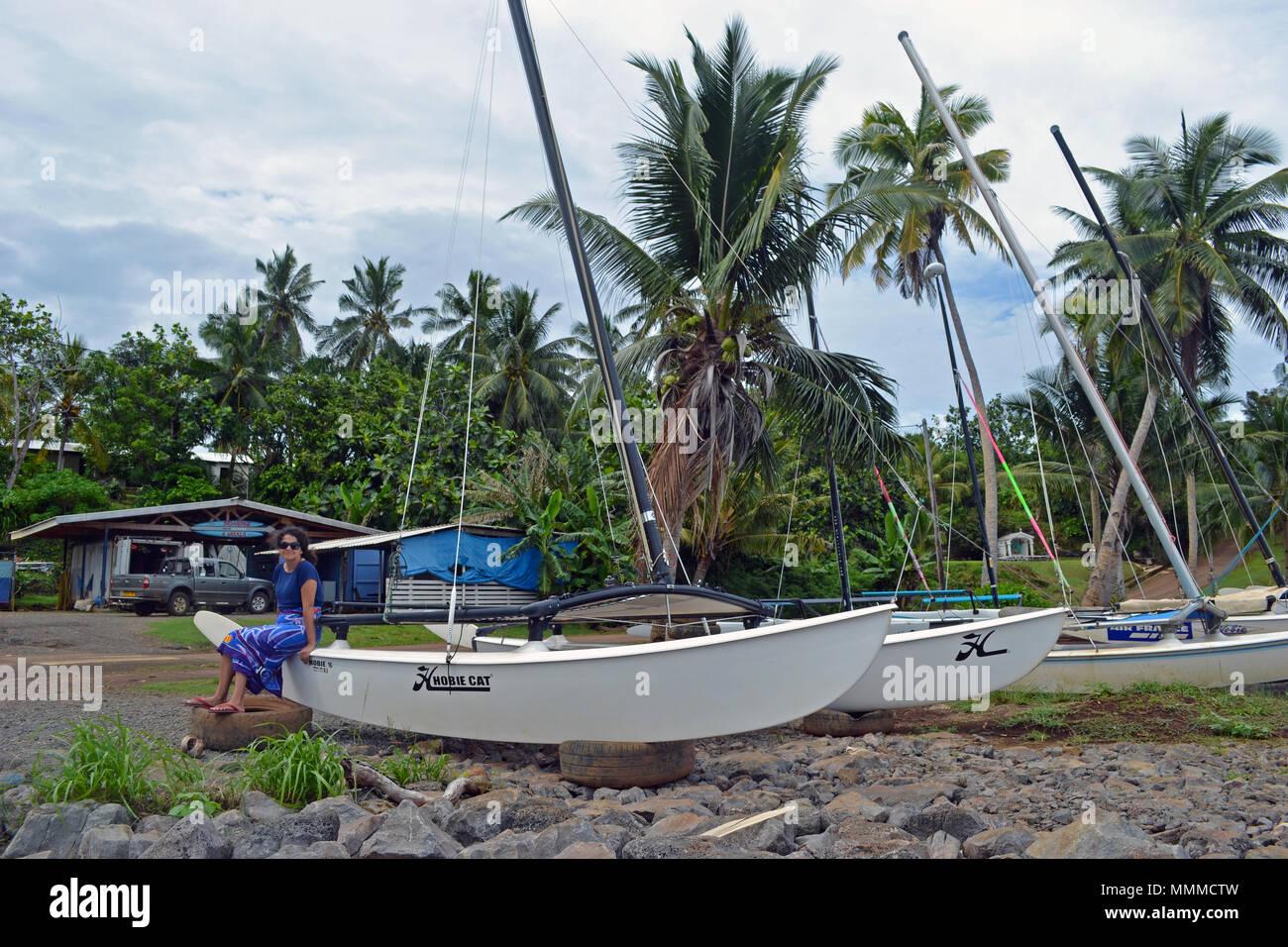 Vakala Canoe Club in Mata-Utu, Wallis Island, Wallis & Futuna - Stock Image