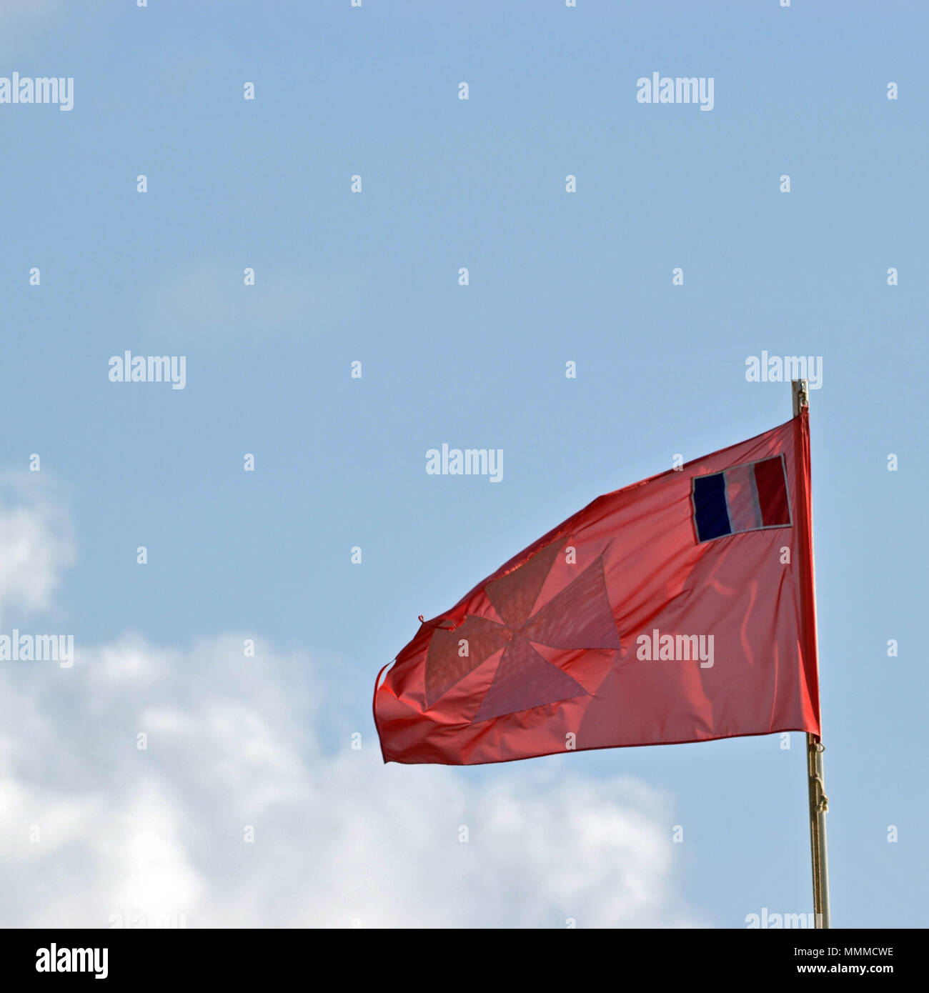 Flag of Wallis & Futuna, Wallis Island, Wallis & Futuna, South Pacific - Stock Image