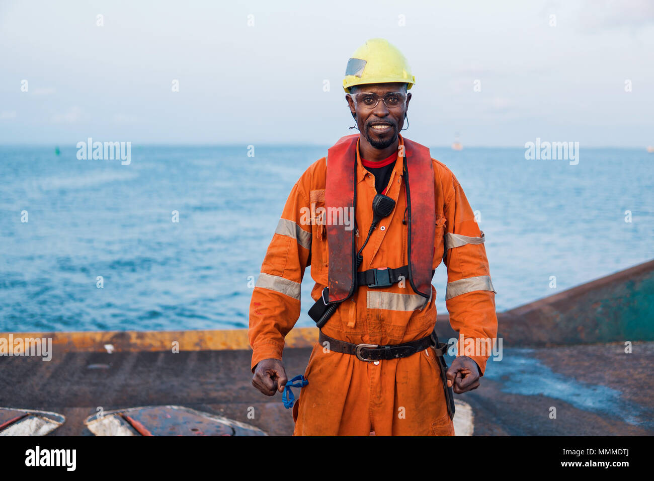 Seaman AB or Bosun on deck of offshore vessel or ship