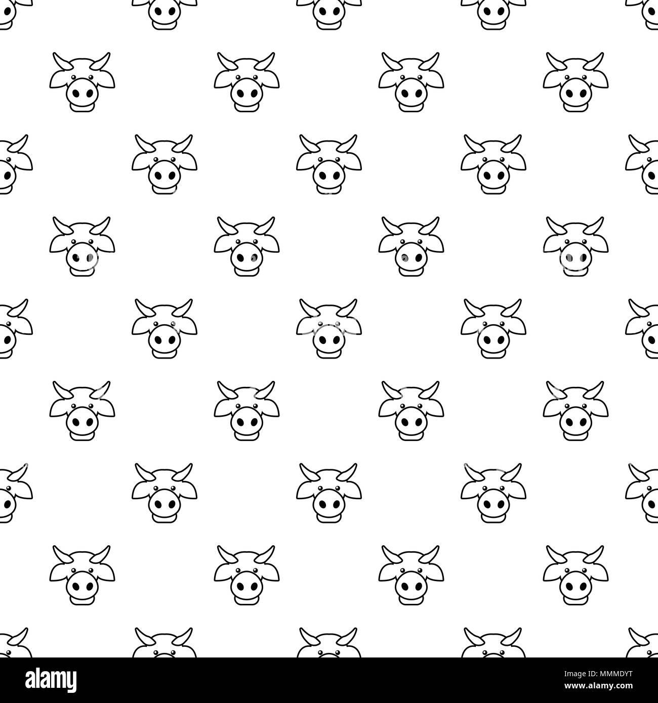cow head pattern vector seamless stock vector art illustration