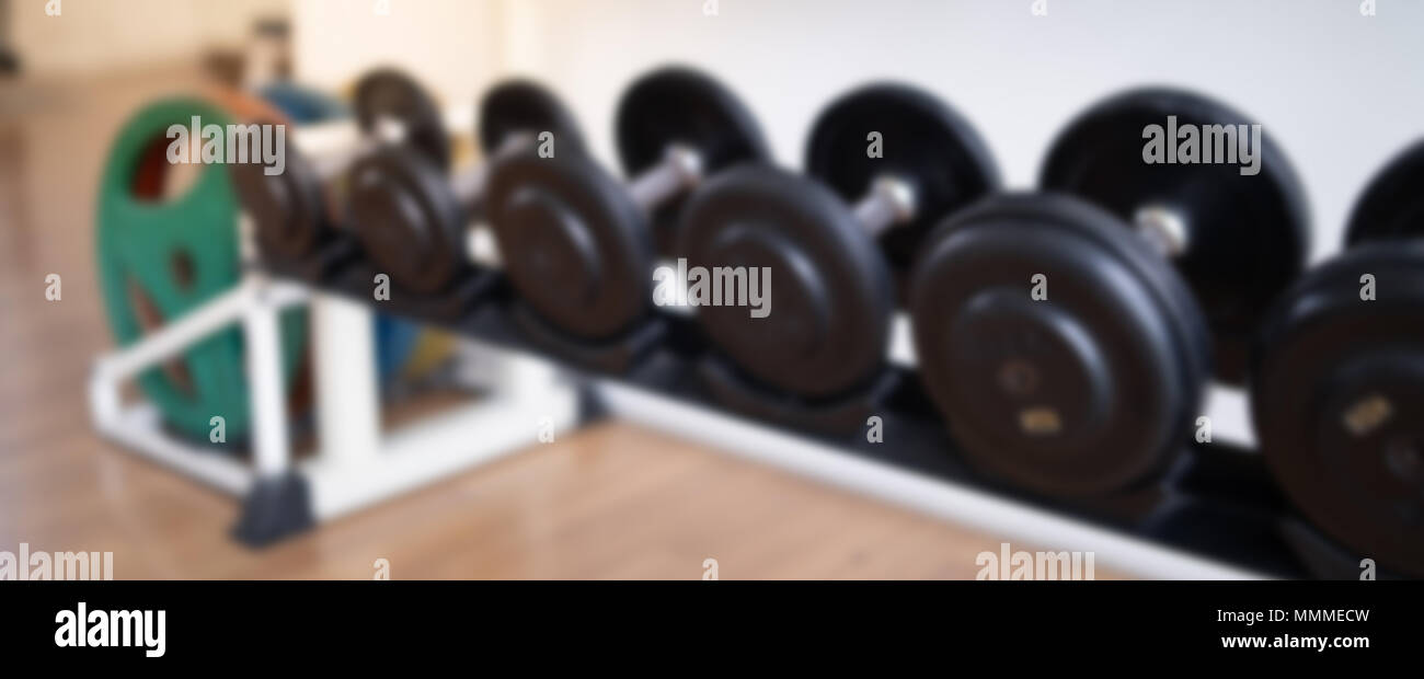 Blurred of fitness gym background for banner fitness