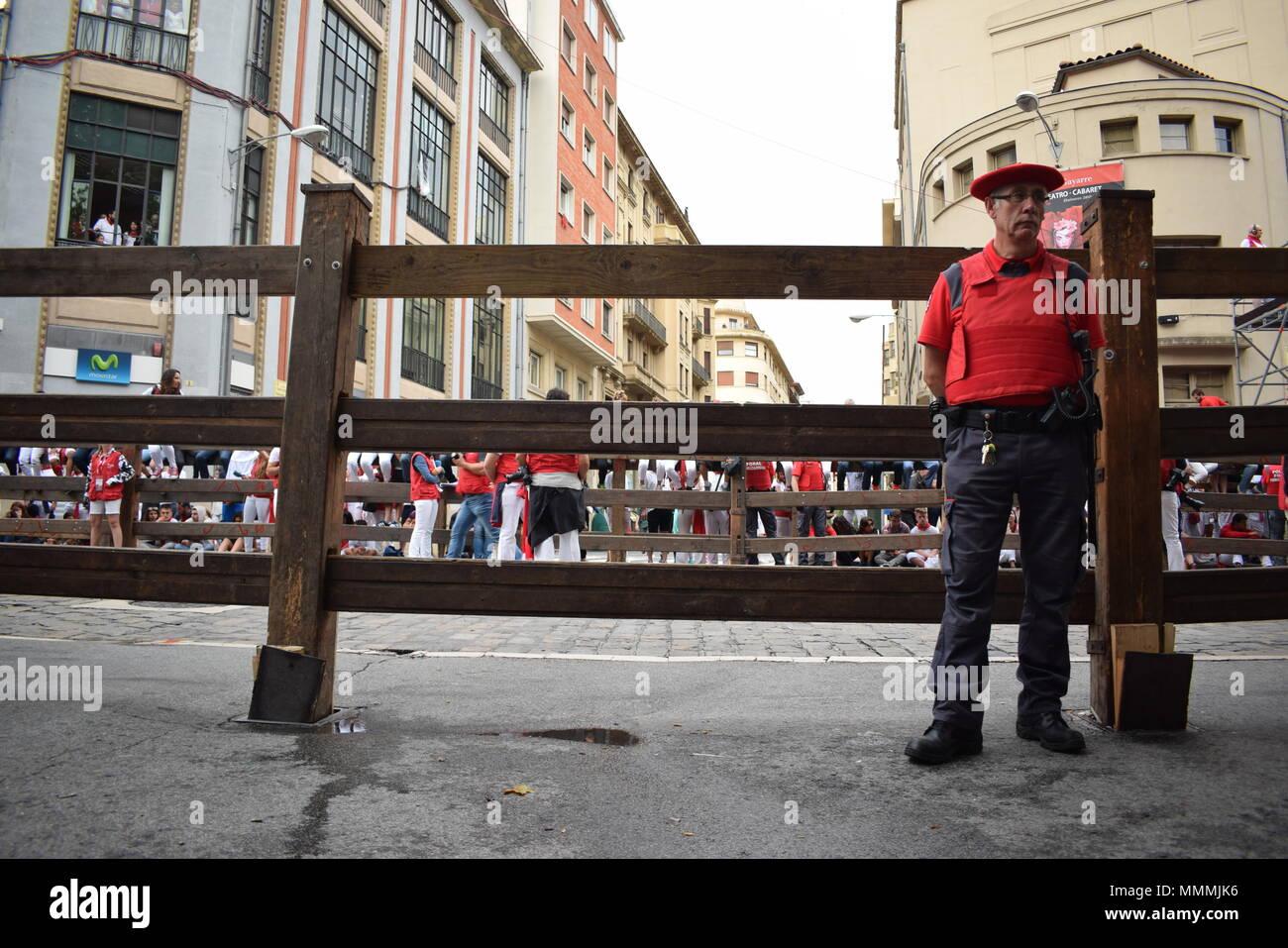 People enjoying the festival of San Fermin Stock Photo