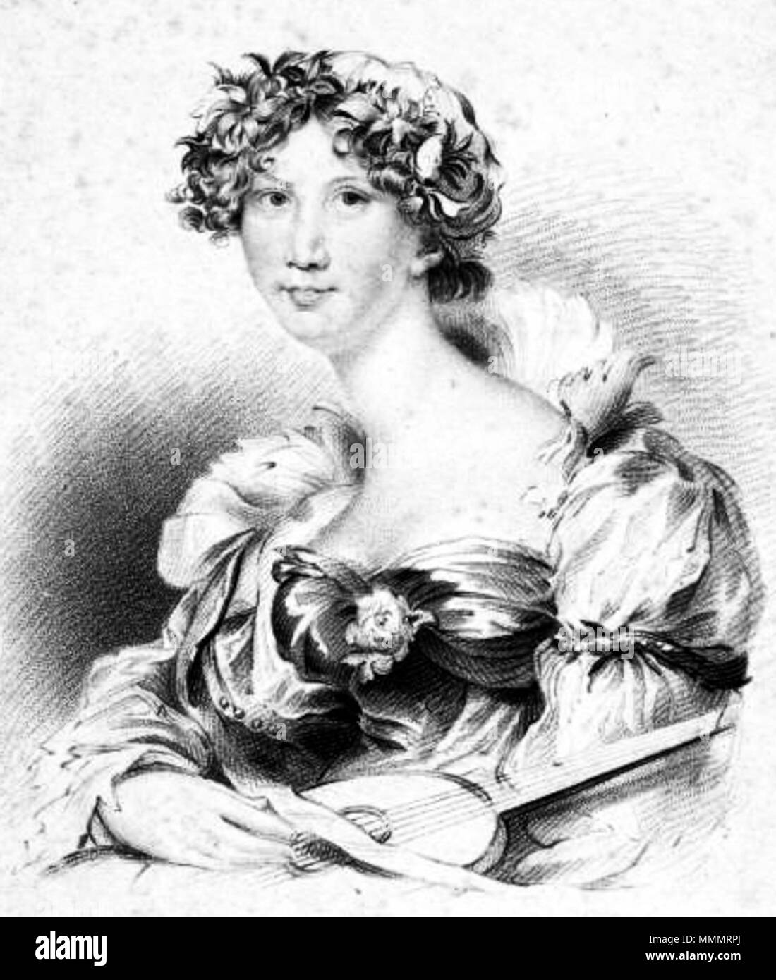 . English: English novelist Anna Maria Porter (1780-1832).  . 1823. J. Thomson 47 Anna Maria Porter Stock Photo