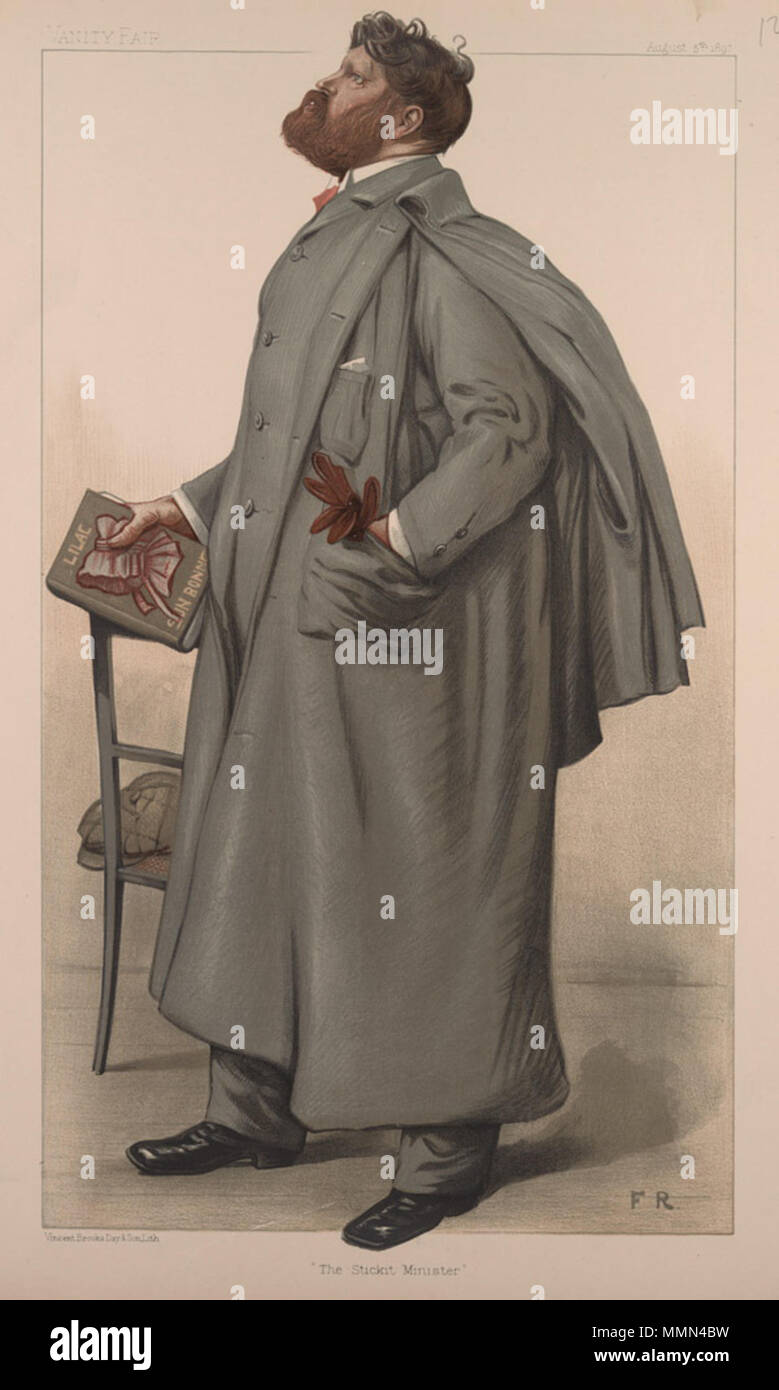 . Men of the Day No.686: Caricature of Mr SR Crockett. Caption reads: 'The Stickit Minister'  . 5 August 1897. 'FR' (unidentified) Samuel Rutherford Crockett, Vanity Fair, 1897-08-05 - Stock Image
