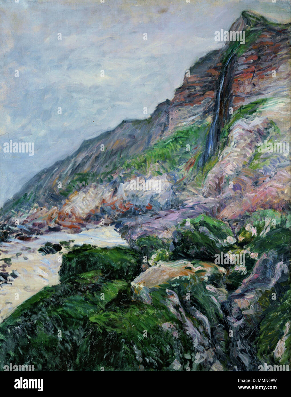 .  English: Painting by Gustave Caillebotte, (French impressionist, 1848–1894) entitled Cliffs in Normandy, 1880. Oil on canvas, 28 3/4 x 23 5/8 in. (73 x 60 cm). Private collection  . 22 February 2013, 11:06:06. 99 Brooklyn Caillebotte cliffs-in-normandy - Stock Image