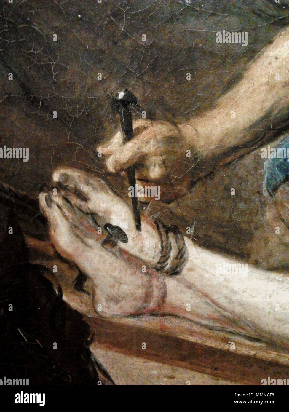 Jesus being nailed to the cross (detail).. between 1672 and 1678 ...