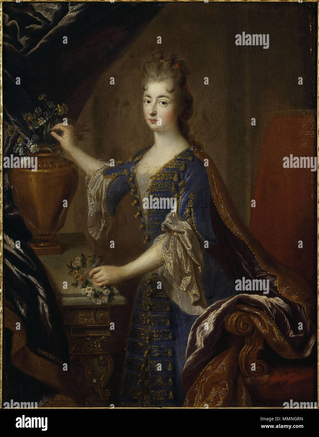 Full portrait of Marie Anne de Bourbon (1666-1739) by François de Troy