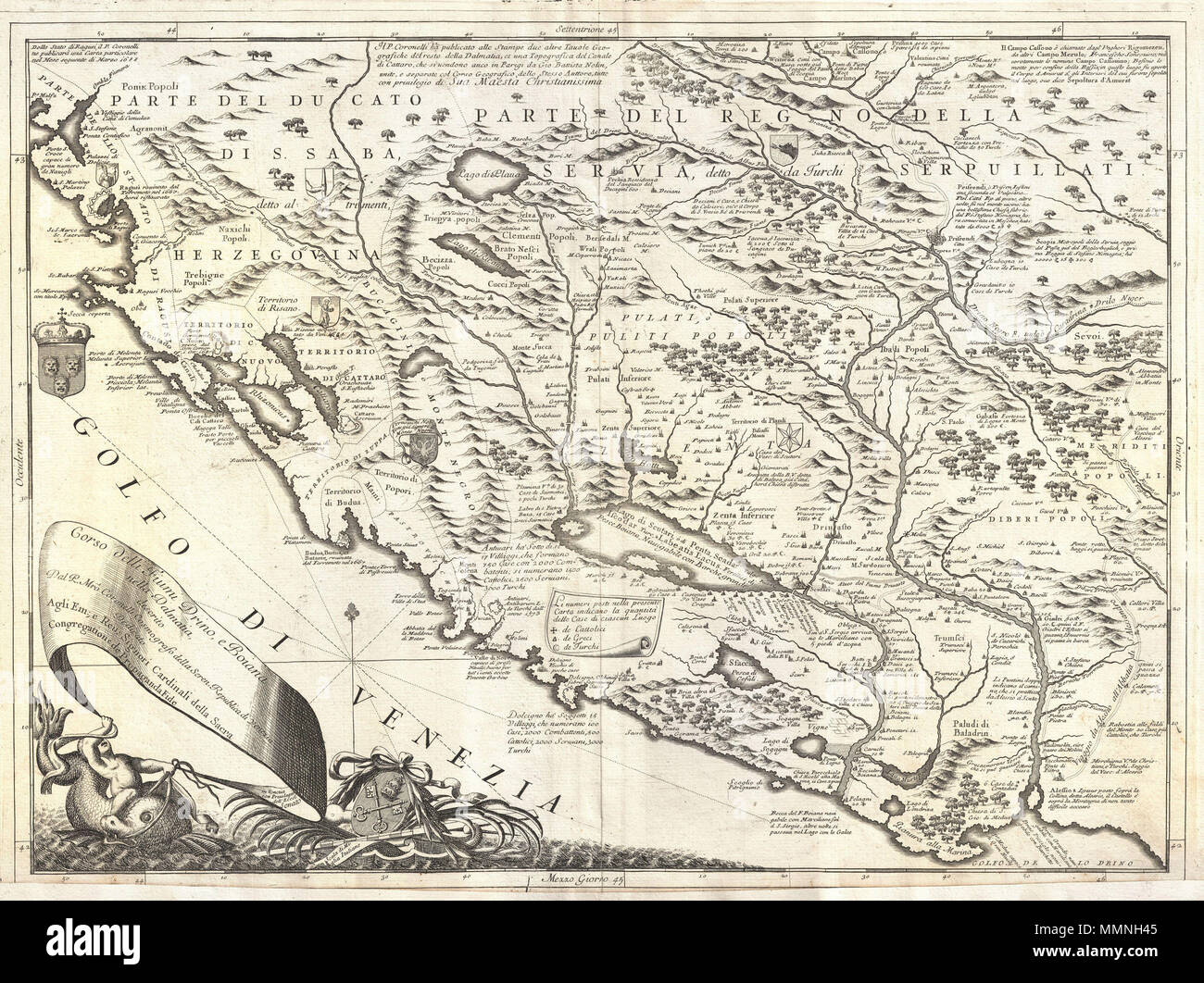 English this is vincenzo maria coronellis 1690 map of montenegro english this is vincenzo maria coronellis 1690 map of montenegro covers the dalmatian coast from dubrovnik to gjiri i drinit including all of modern freerunsca Image collections