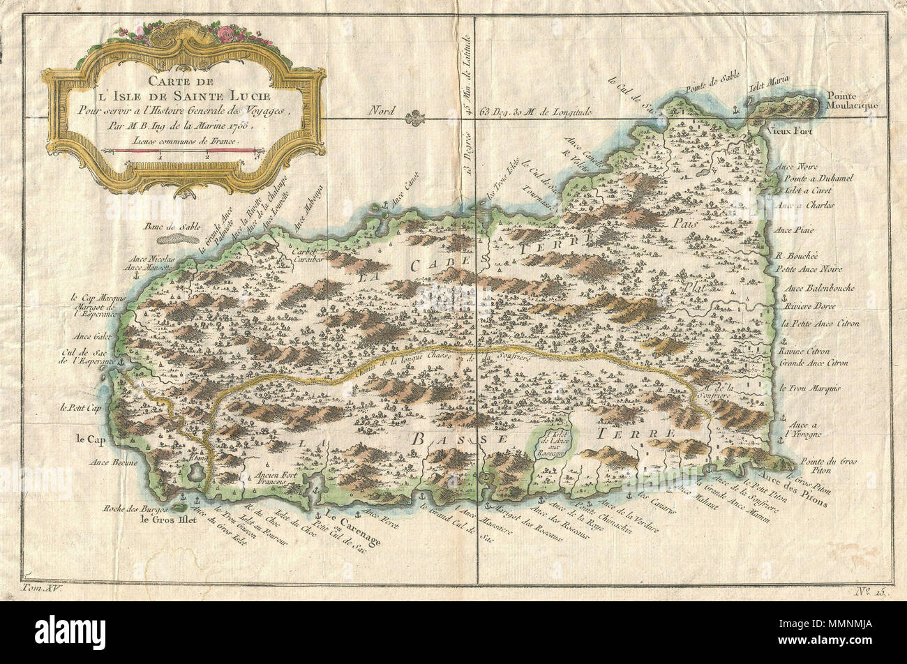 English: This beautiful little map depicts the Caribbean island of ...