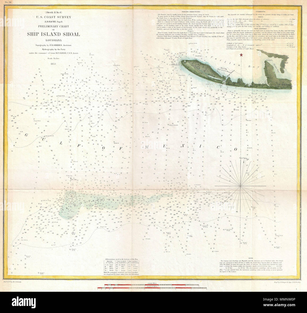 English An Attractive Example Of The Us Coast Survey Map Of