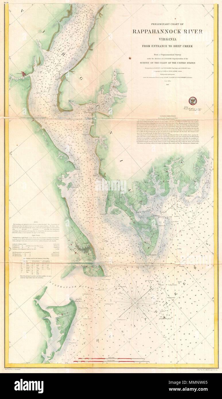 U S Coast Survey Nautical Chart Stock Photos U S Coast Survey