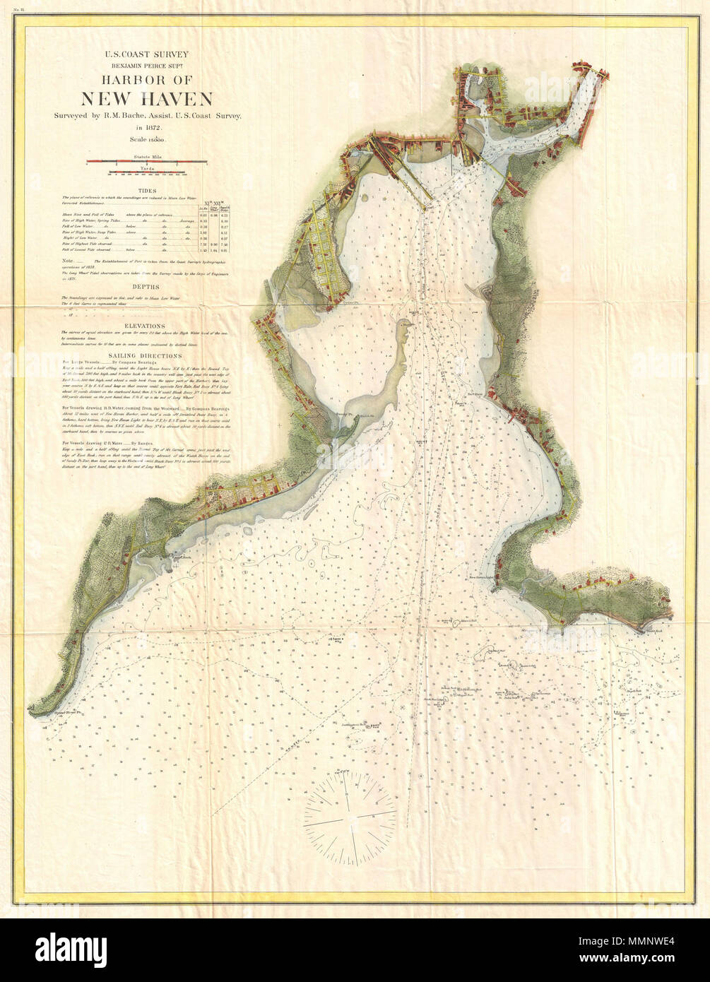 English: A very attractive example of the 1872 U.S. Coast Survey ...