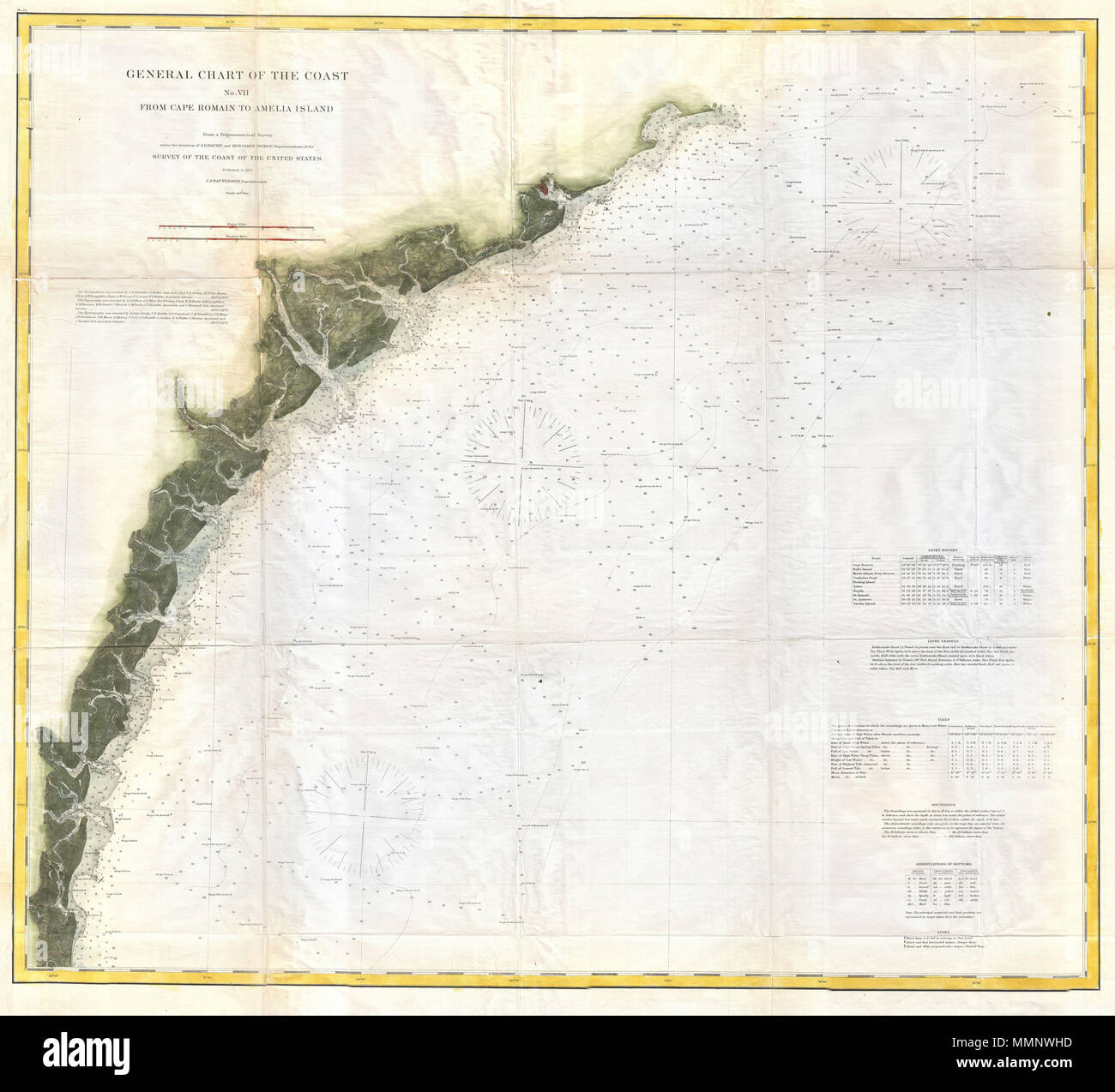 English: This is the U.S. Coast Survey\'s 1874 map or chart of the ...