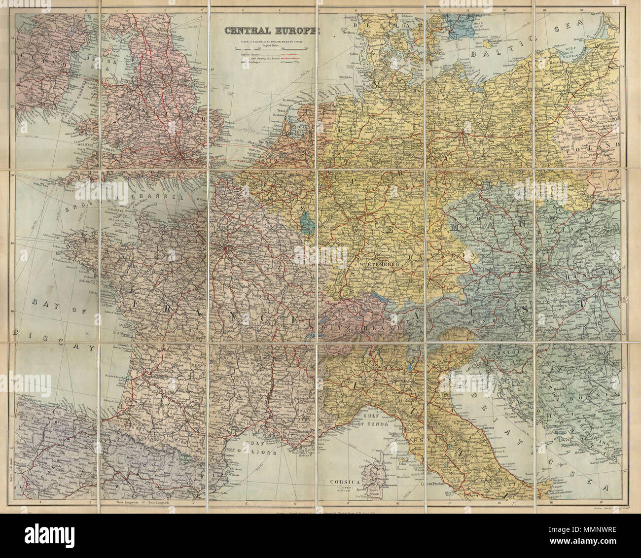 Map Of Nw England.English This Is A Fascinating 1895 Map Depicts Europe From England