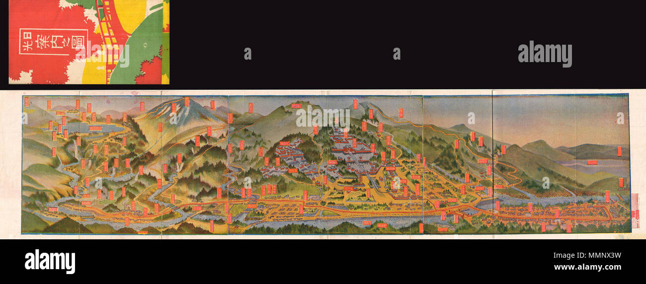 English this is an extremely attractive 1925 taisho 14 japanese english this is an extremely attractive 1925 taisho 14 japanese view map of nikko japan nikko is a un world heritage site and considered to be one gumiabroncs Images