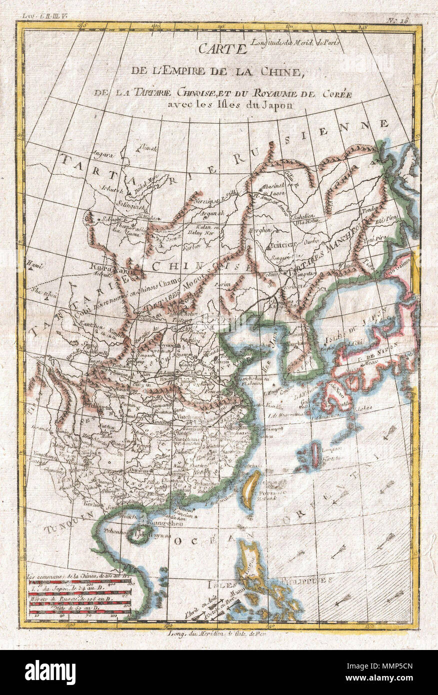 Modern Day China Map.English A Fine Example Of Rigobert Bonne And G Raynal S 1780 Map
