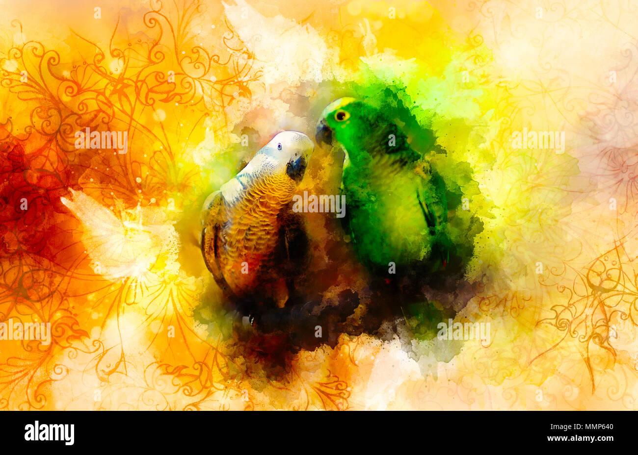 Parrot India Art Stock Photos & Parrot India Art Stock Images - Alamy