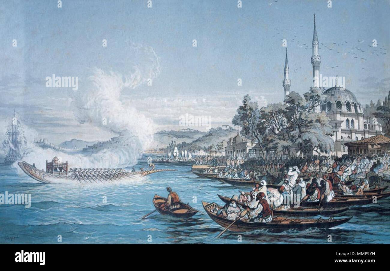 Istanbul boats Watercolour, Ottoman Empire . between 1850 and 1882. Amedeo  Preziosi (1816–1882) Alternative names Amadeo Preziosi Description Maltese  painter Date of birth/death 2 December 1816 27 September 1882 Location of