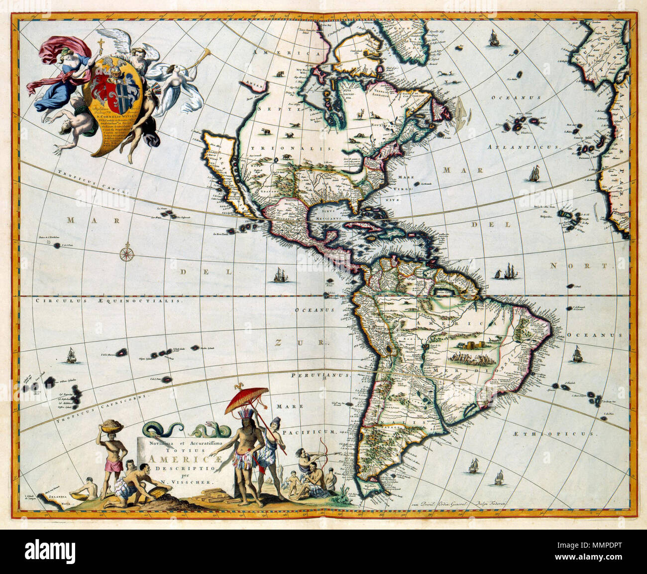 Hangmat Zuid Amerika.Nederlands Kaart Van Noord En Zuid Amerika Novissima Et