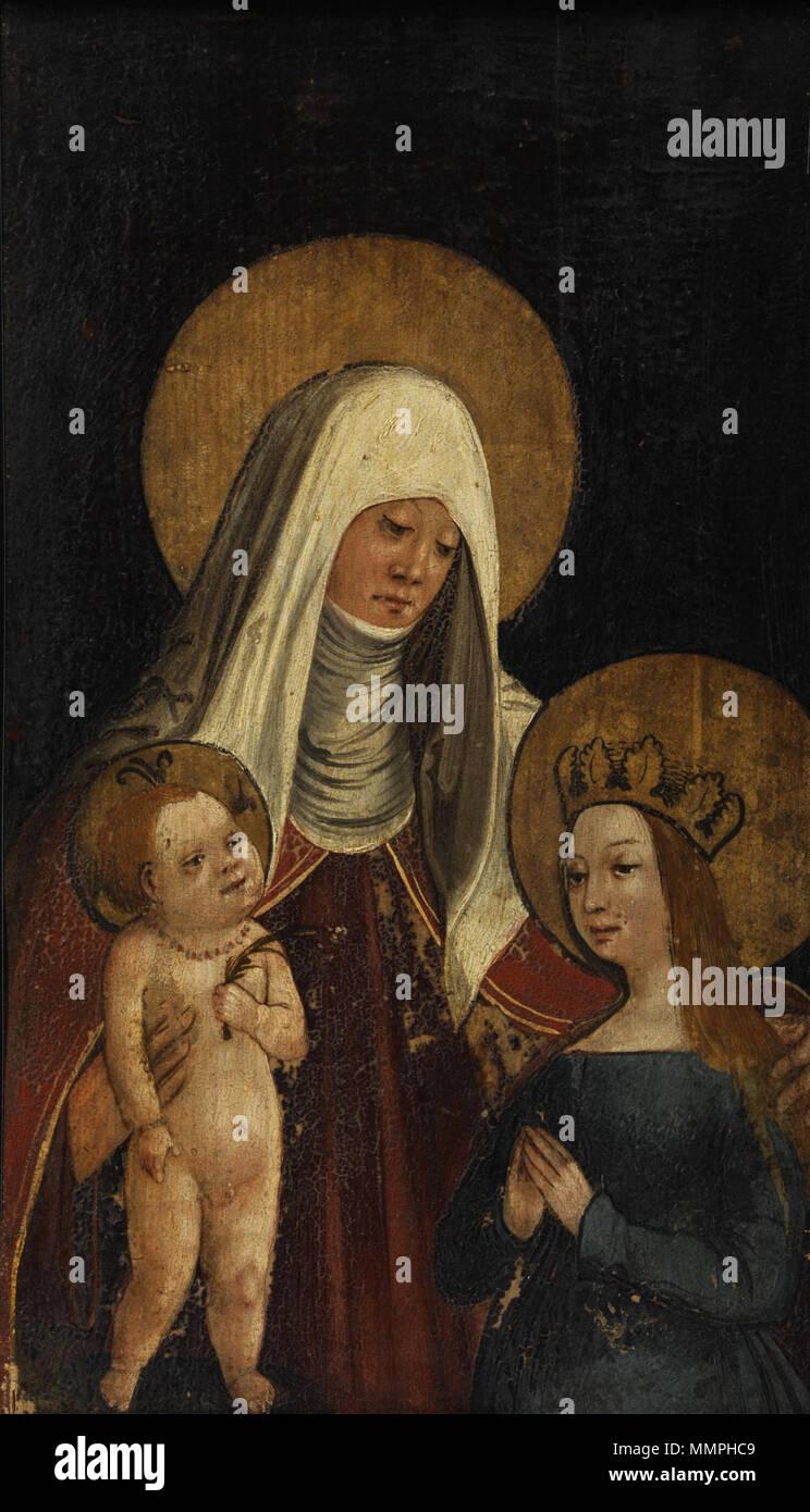 . Virgin and Child with Saint Anne  . 16th century. Anna selbdritt westdeutsch 16Jh - Stock Image