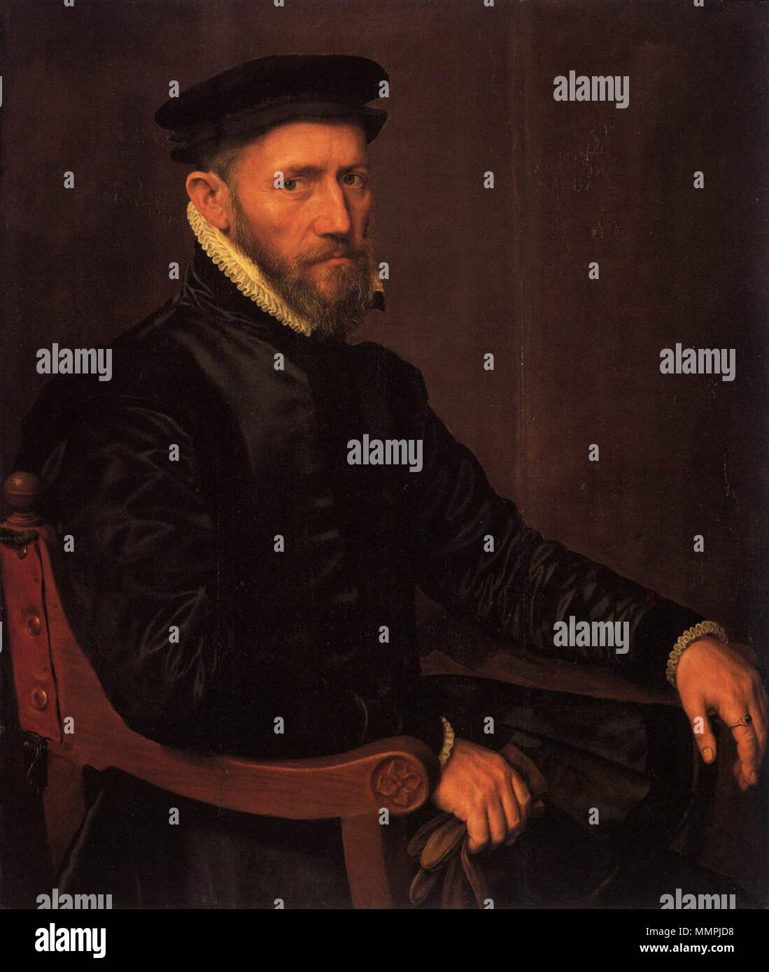 Anthonis Mor - Sir Thomas Gresham - WGA16185 - Stock Image