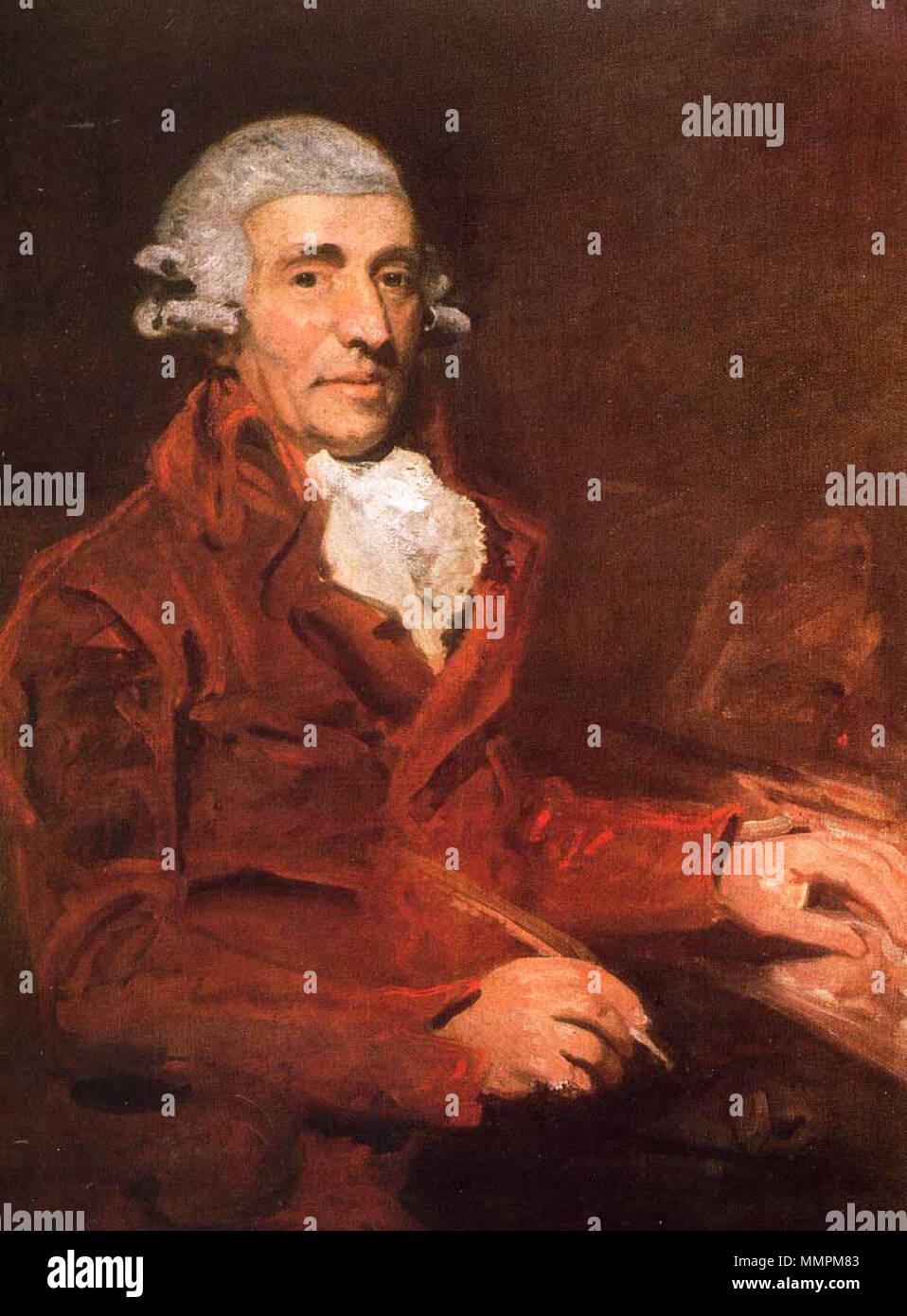 Portrait of Franz Joseph Haydn (1732-1809). February 1791. Franz Joseph  Haydn 1732-1809 by John Hoppner 1791