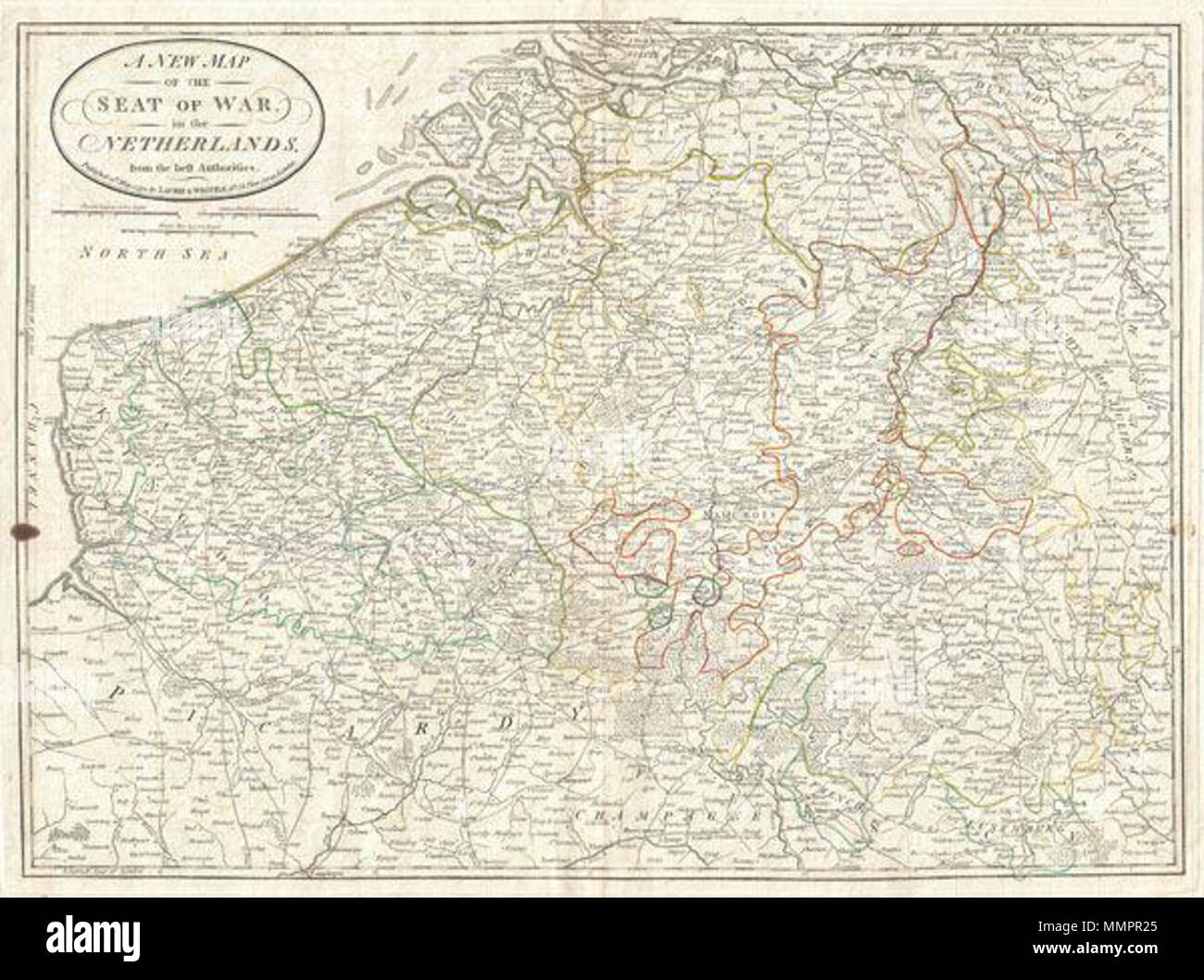Map Of Germany Luxembourg Belgium.English An Very Attractive 1794 Map Of What Is Today Belgium By