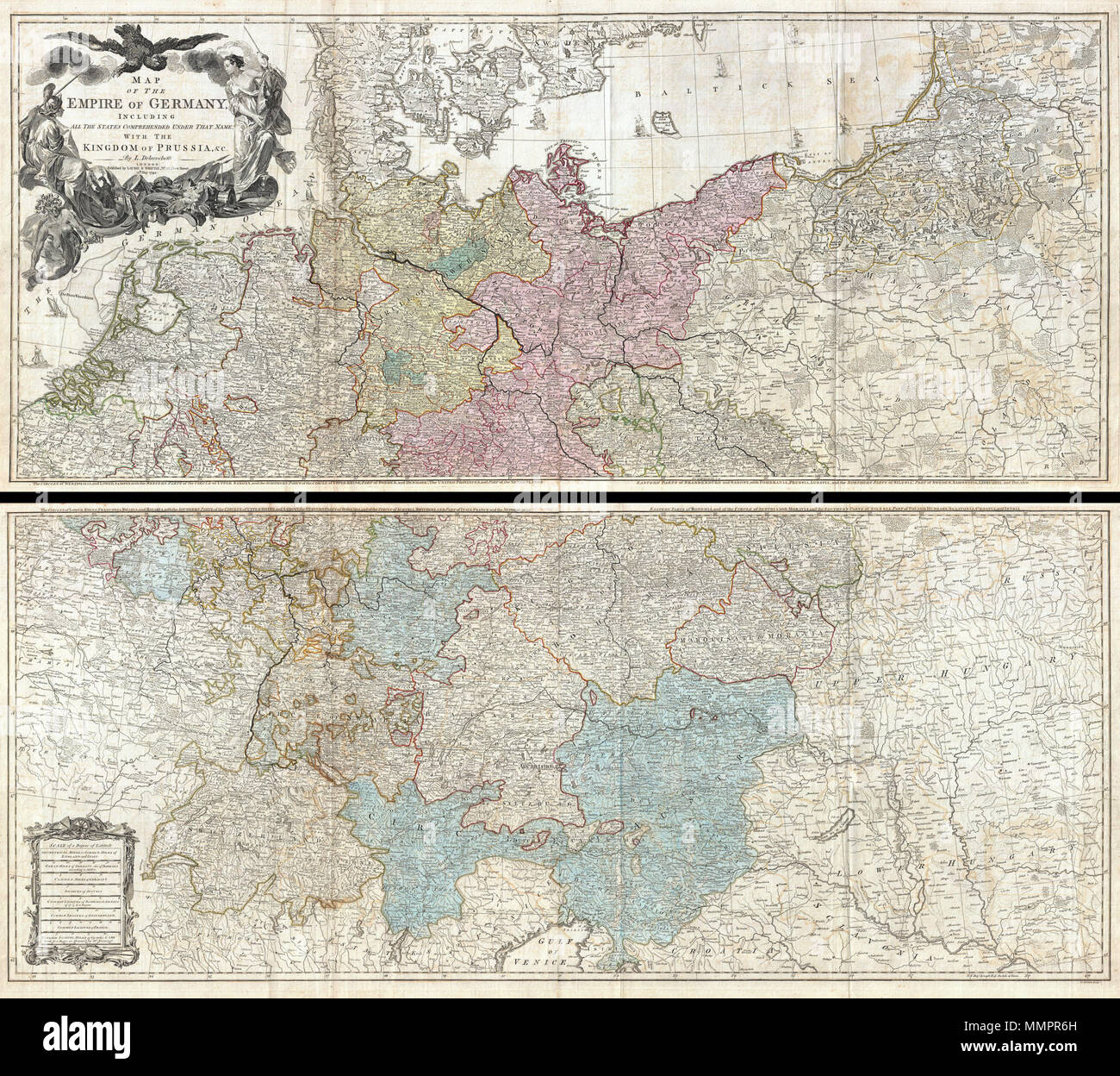 english an absolutely stunning and monumental two panel 1794 wall map of germany bohemia austria and prussia by louis stanislas darcy delarochette