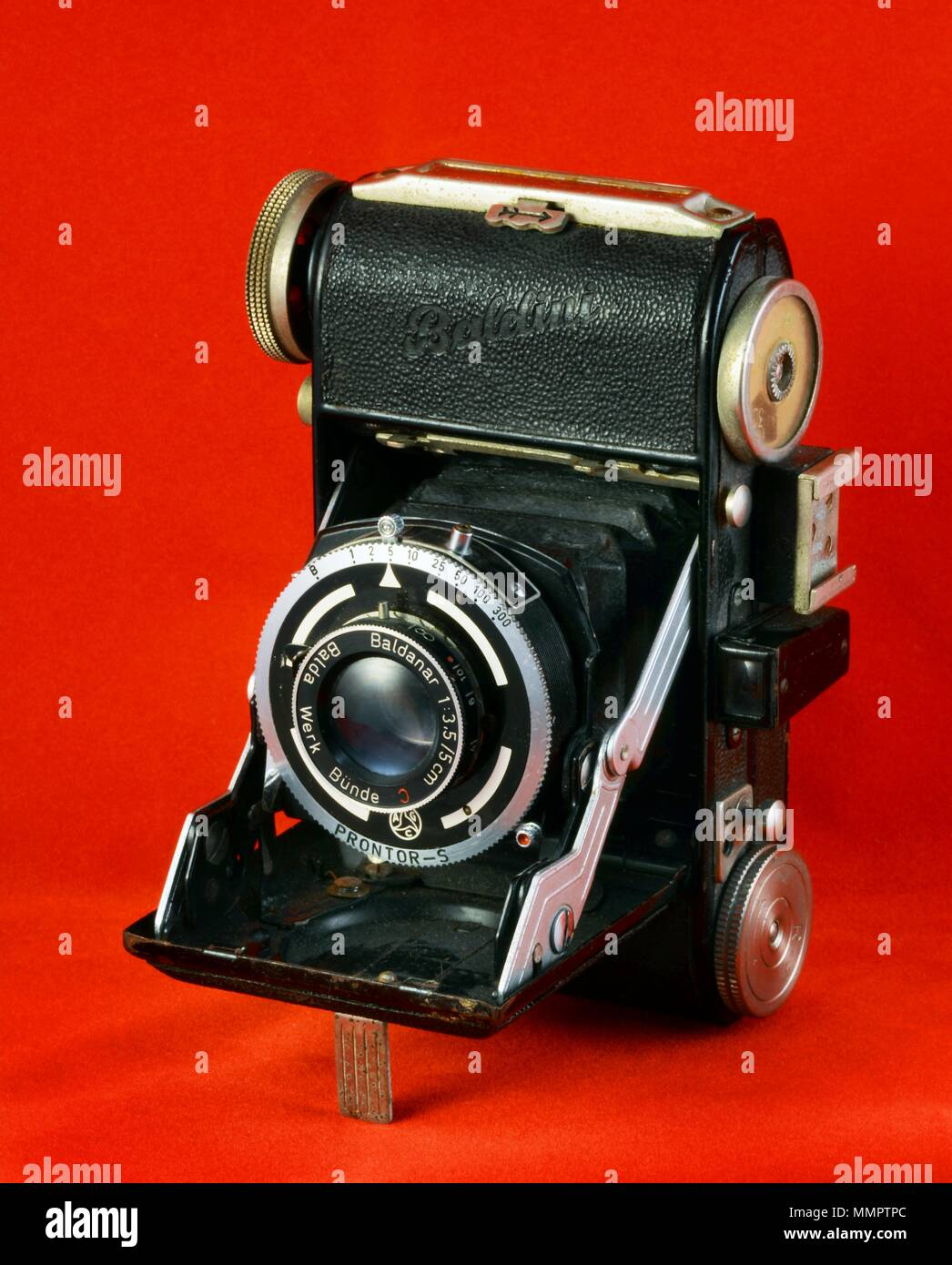 Baldinawere a series of cameras manufactured in Germany byBalda Werkefrom the mid 1930s to the mid 1950s.marketed under many many different names.. - Stock Image