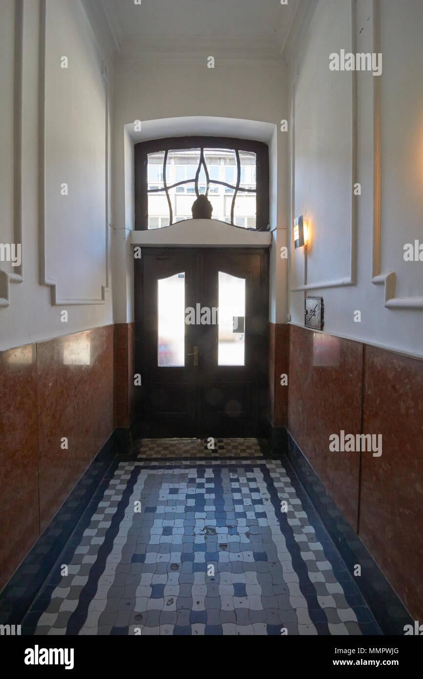 Typical entrance of the house in old Belgrade. House on Gospodar Jovanova street. - Stock Image