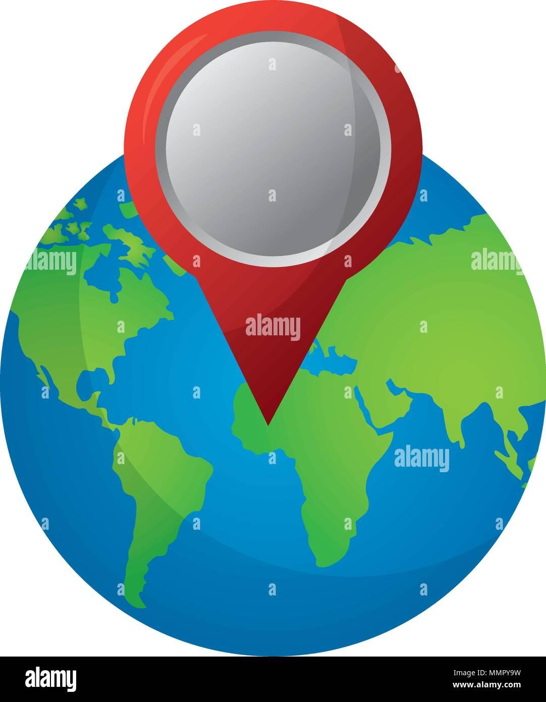 Map pin australia stock photos map pin australia stock images gps navigation world map pin destination travel vector illustration stock image gumiabroncs Images