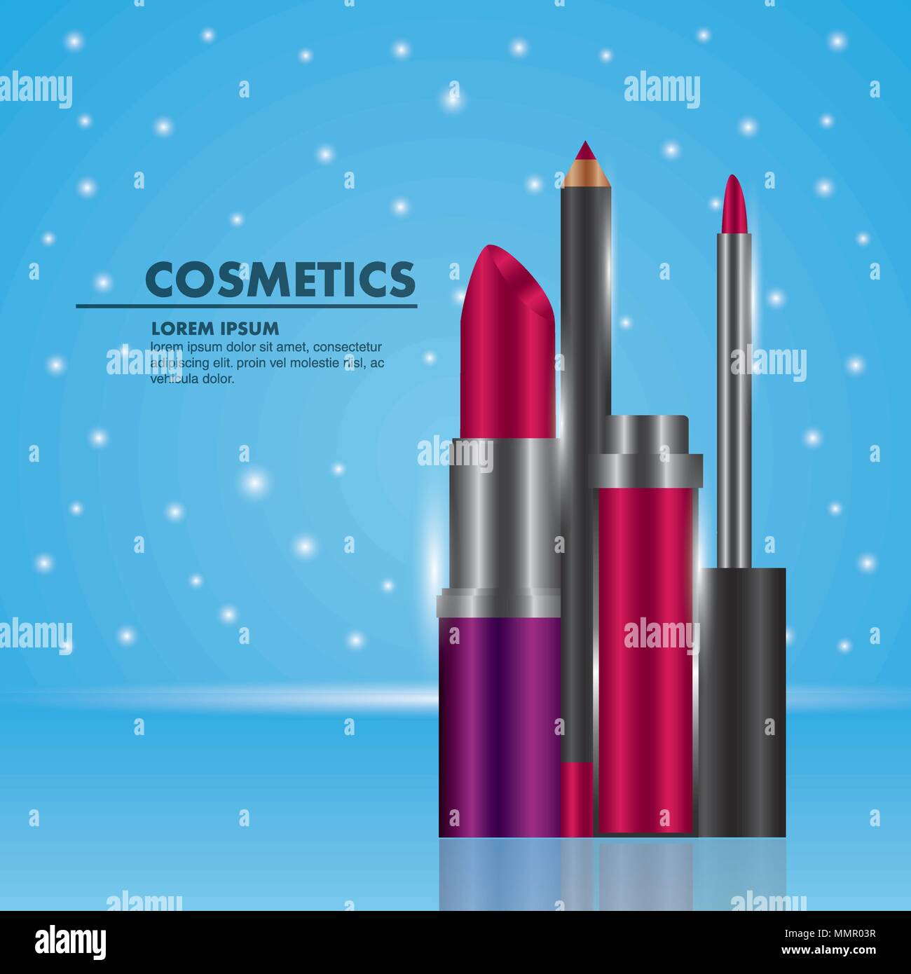 cosmetics makeup related Stock Vector