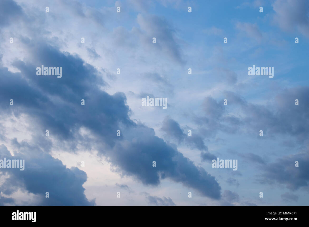 Storm is coming, clouds apear - Stock Image